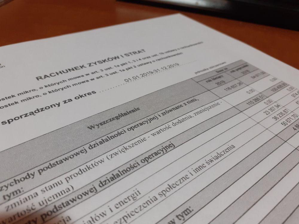 Sprawozdanie finansowe za 2020 COVID19